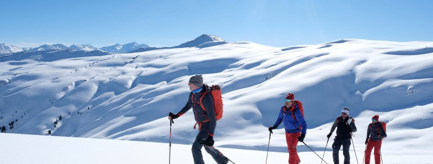 Gruppe auf Skitour