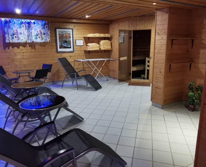 Wellnessbereich Sauna und Enstpannung