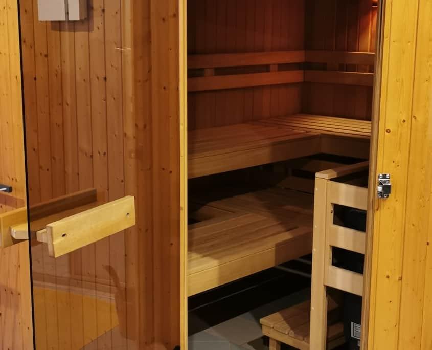 Saunabereich und Wellnessbereich im Appartements Mary